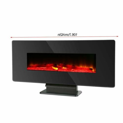 """42"""" Fireplace Multicolor Crystal W/"""