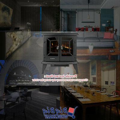 1400W Fireplace LED Log Flame Heat