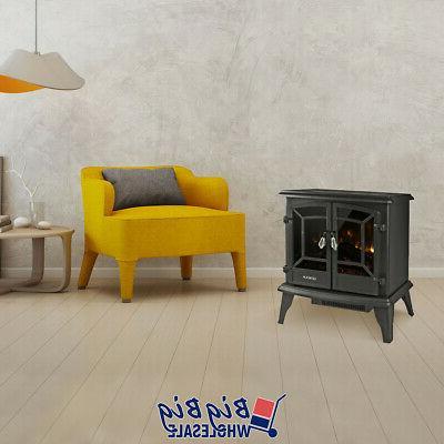 "1400W 20"" Fireplace Stove LED"