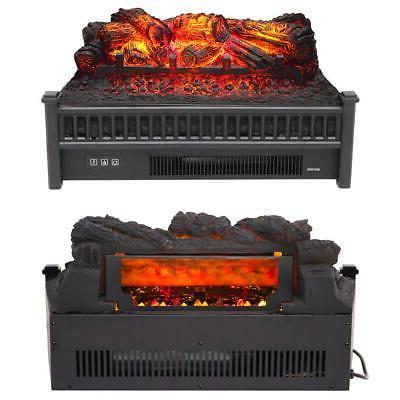 1400W Fireplace Logs Heater Realistic Hearth Fire