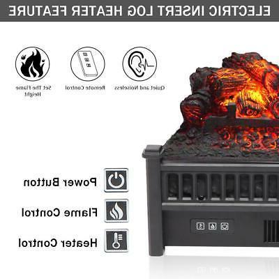 "1400W 23"" Electric Logs Heater Hearth Fire"