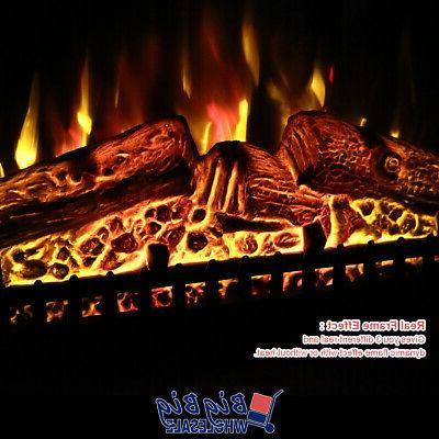 1400W Fireplace Heater Flame +Remote