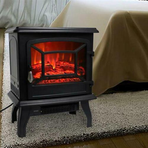 1400W Adjust Electric Free Standing Fire Flame