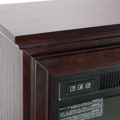 1400W Electric Firebox Infrared Quartz Heater Log Remote