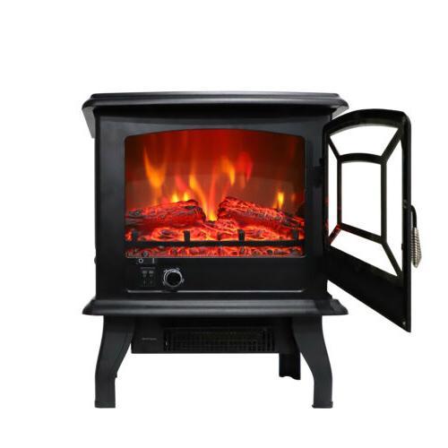 1500W Electric Heater Wood Fire 68-95℉/20-35℃
