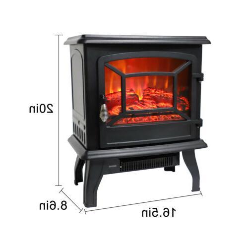 1500W Electric Fireplace Wood 68-95℉/20-35℃