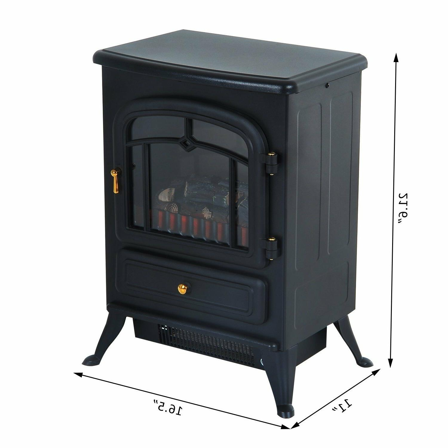 Indoor Vent Free Electric Fireplace Heater Adjustable Flame