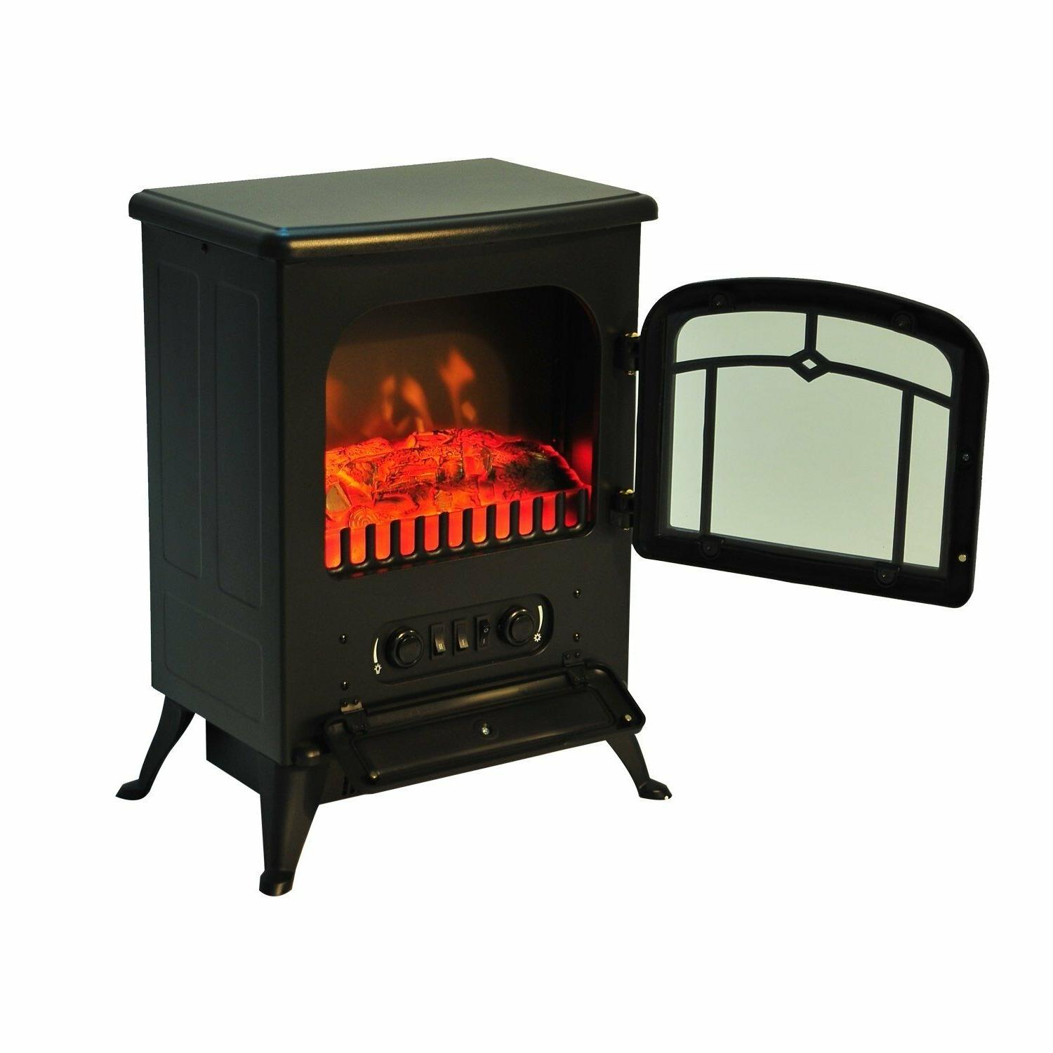 Indoor Fireplace Space Heater 1500W Adjustable Stove