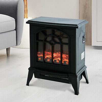 16 1500w freestanding indoor electric fireplace heater