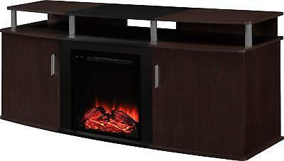 Ameriwood Home 1766196PCOM Carson Electric Fireplace TV Cons