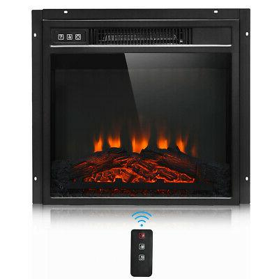 "18"" Electric Fireplace Freestanding & Wall Mounted Heater Lo"