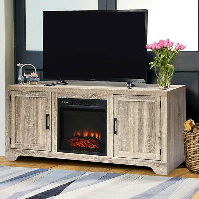 """18"""" Fireplace Freestanding &Wall-Mounted Heater Flame Remote 1400W"""