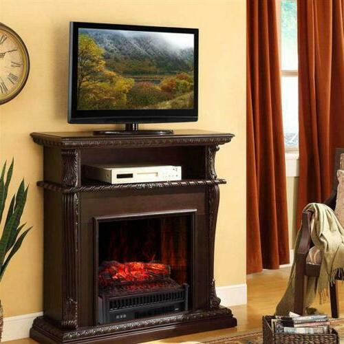 "22"" Electric Fireplace Insert Heater Flame"