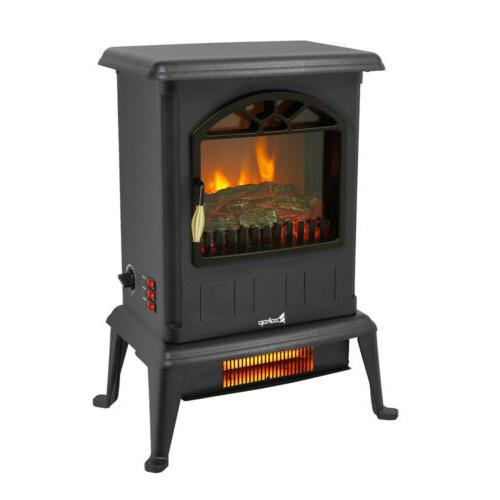 1500W Electric Fireplace Space Heater Fire Flame Stove Tempe