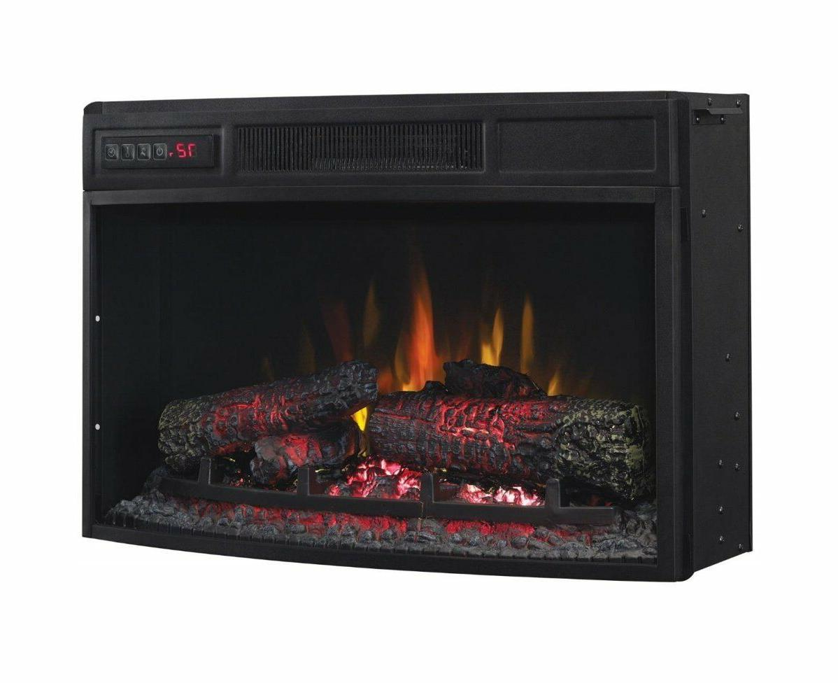 25 curved electric fireplace insert 25ef033clg