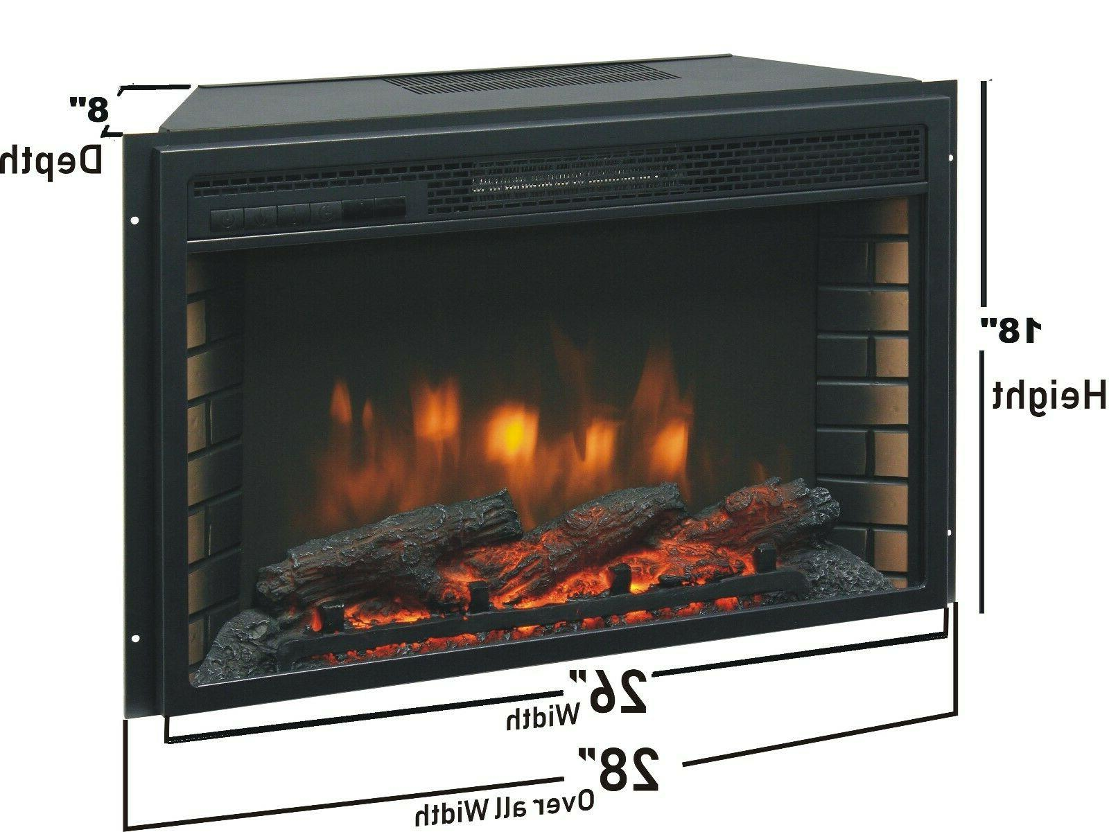 "26"" Electric Firebox - Fan and Glowing Logs Fireplace"