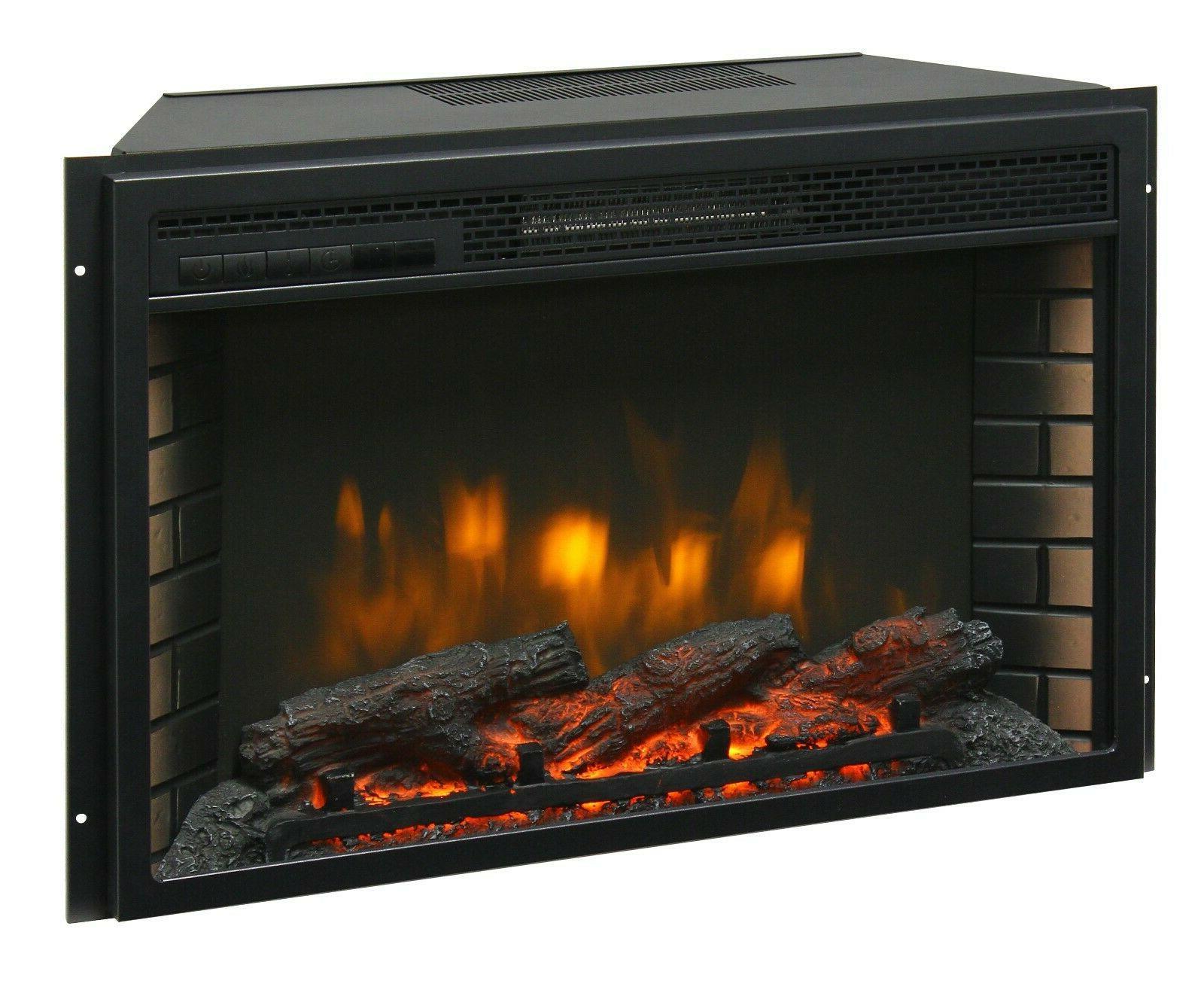 26 electric firebox insert with fan heater
