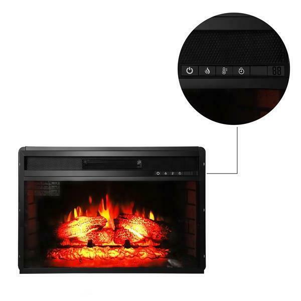 """26"""" Flat Heater Flame, Black"""