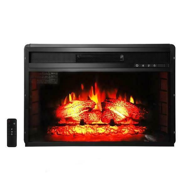 26 flat ventless insert heater electric fireplace