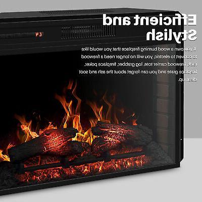 "28"" Electric Fireplace Insert Control, Black"