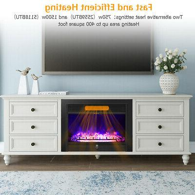"28.5"" Fireplace Electric Insert Flame Remote"
