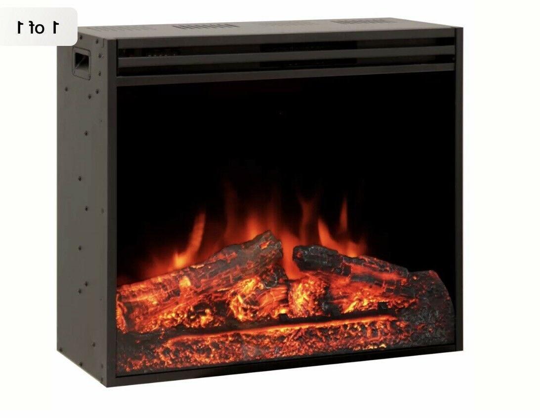 28 electric firebox insert with fan heater