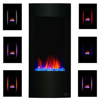 """Clevr 32"""" Vertical Wall Mount Fireplace Heater w/"""