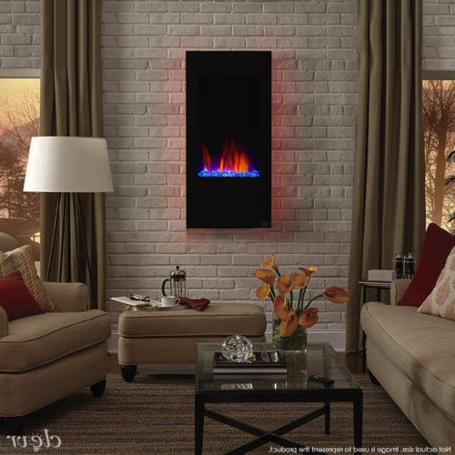 32 vertical wall mount electric fireplace heater