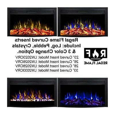 Curved Ventless Heater Fireplace Insert