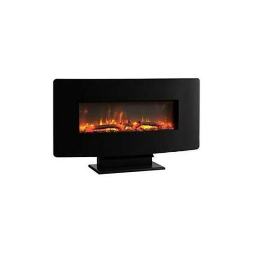 35 curved wall mount electric fireplace 966684