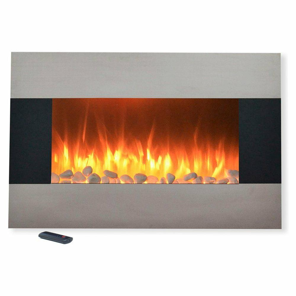 """35"""" Stainless Steel Mount Fireplace Heater Home"""