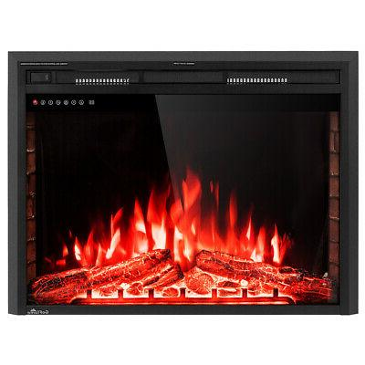 """36"""" Electric Fireplace Insert Freestanding Stove Heater 750W-1500W"""