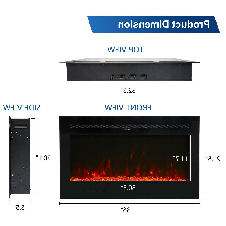 """36"""" Fireplace LED Flame 750/1500W"""