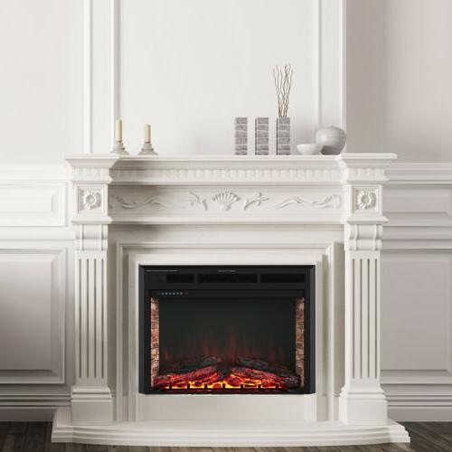 """32"""" Electric Fireplace Insert Heater Wall Mounted w/ Remote"""