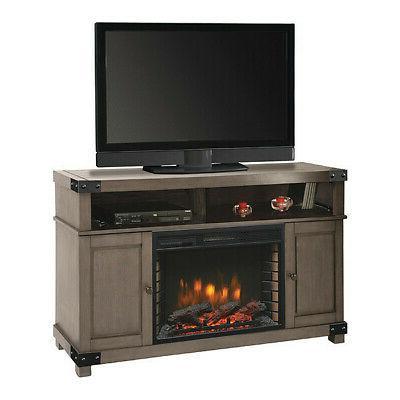 "MUSKOKA Grey Hudson Electric Media Fireplace, 53"""