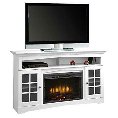 370 196 204 electric fireplace white