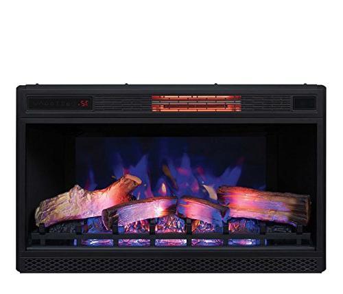 "Classic Quartz Fireplace Insert Plug and 32"""