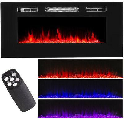 40 1500w embedded fireplace electric insert heater