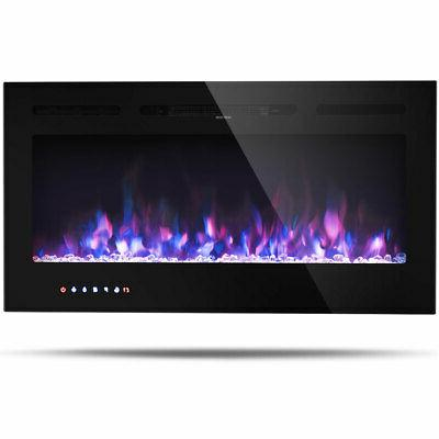 "40 "" Electric Fireplace Recessed and Wall Mounted 750W/1500W"