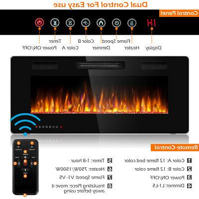 "42"" Ultra Wall Mounted Heater Multicolor Flame"