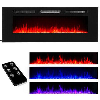 50 1500w electric fireplace in wall recessed