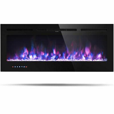 50 electric fireplace recessed and wall mounted