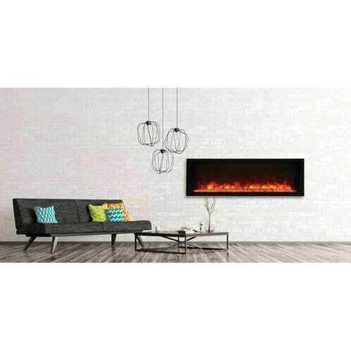 50 panorama extra slim electric fireplace bi