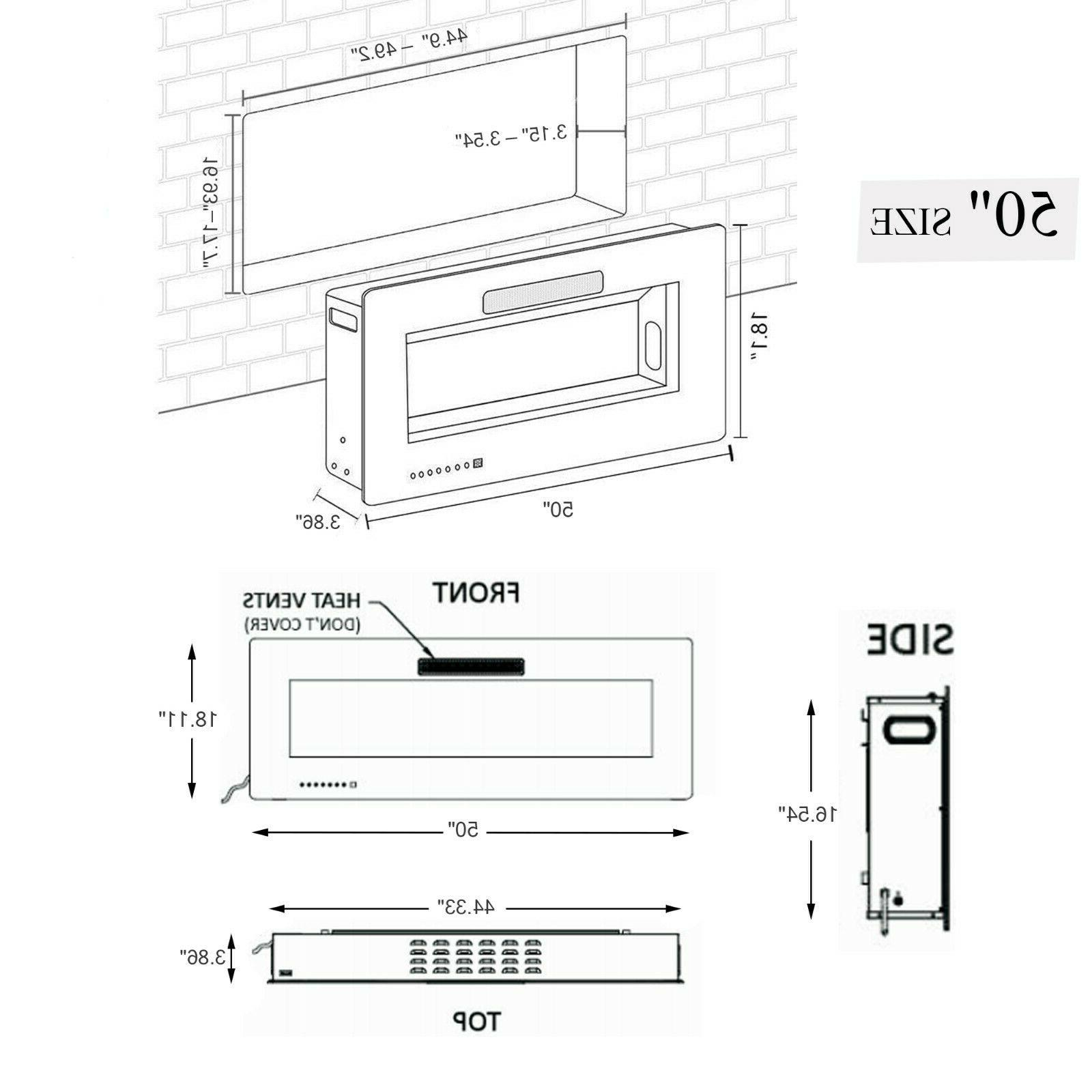 """50"""" Fireplace Insert, Mounted with"""