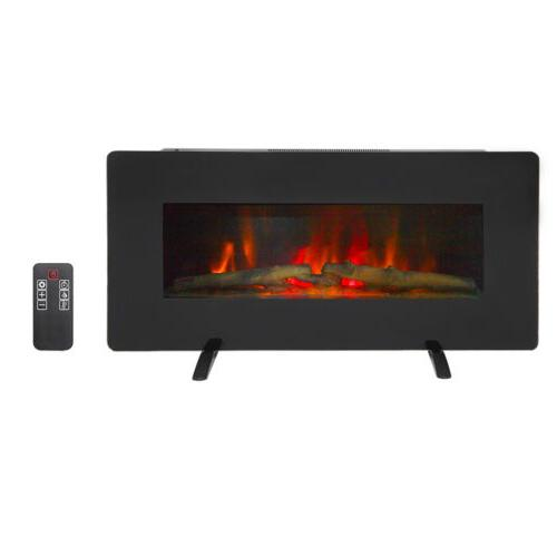 50 wall mounted electric fireplace heater flame