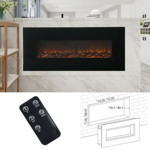 """50"""" Mounted Electric Fireplace Heater Flame w/ Remote Control"""