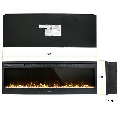 "58"" Insert Wall Heater Adjust 3D Crystal Flame"