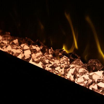 "58"" Electric Fireplace Insert Wall Heater 3D"