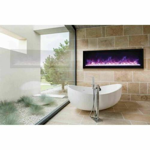 60 panorama extra slim electric fireplace bi
