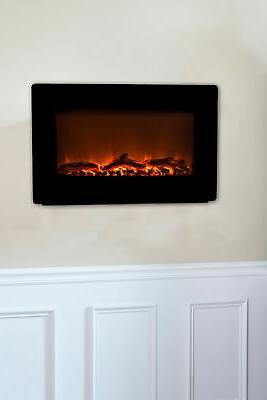 Fire 60757 4776 BTU Mounted Electric Fireplace - Black